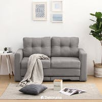 Ananta Niki Sofa Bed Grey + Free Puff Storage Lipat uk 50x30 cm