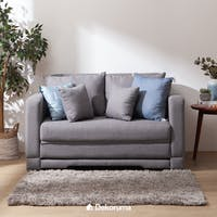 Ananta Fernanda Sofa Bed Grey + Free Puff Storage Lipat uk 50x30 cm
