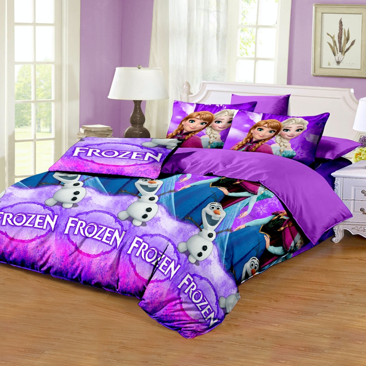 Pesona Disperse Sprei Frozen Lama Uk 160x200x20cm