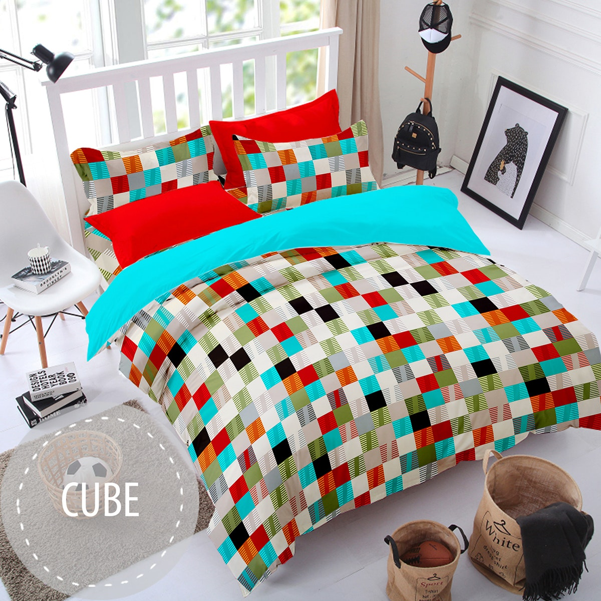 Pesona Sprei Disperse Cube uk 120 T 20
