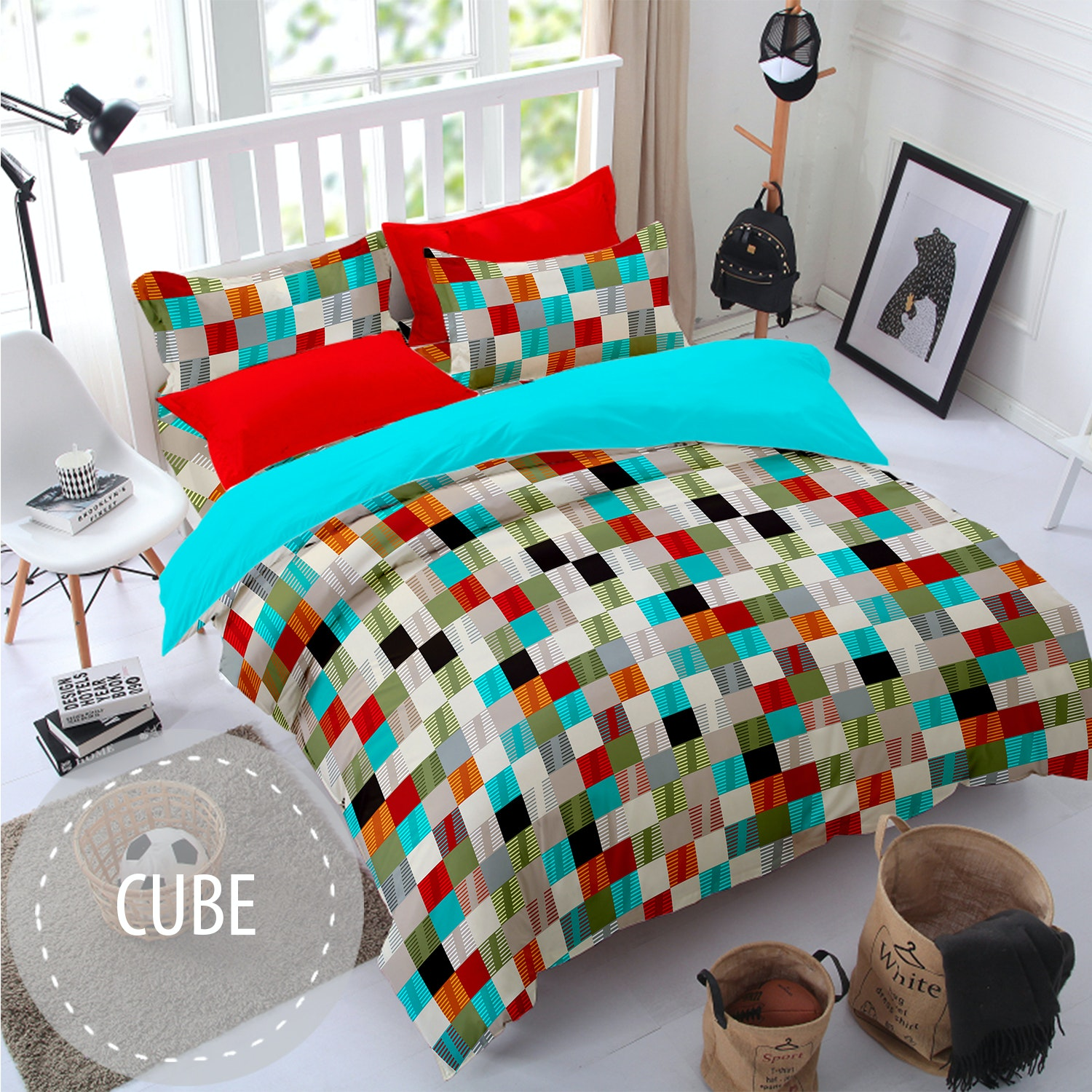 Pesona Sprei Disperse Cube uk 160 T 20