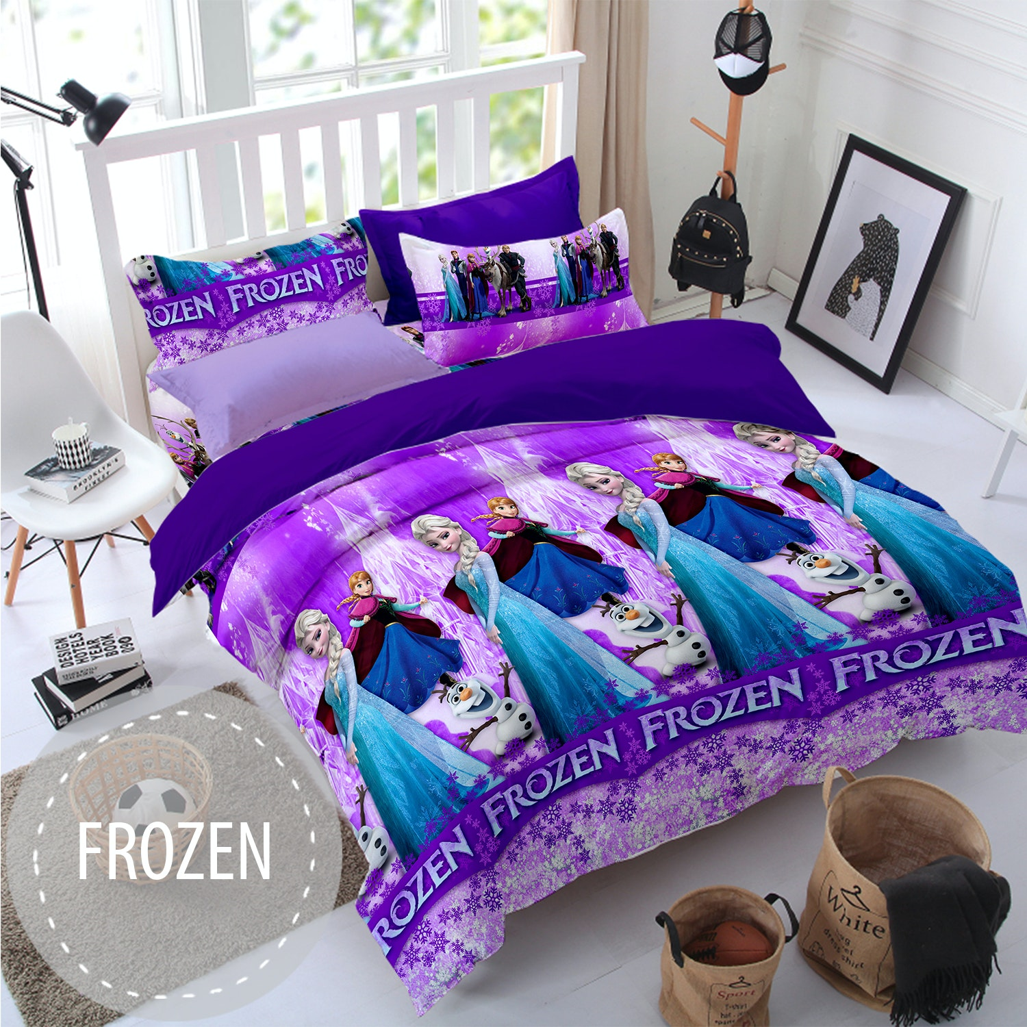 Pesona Sprei Disperse Frozen Ungu uk 120 T 20