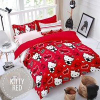 Pesona Sprei Disperse Kitty Red uk 160 T 20