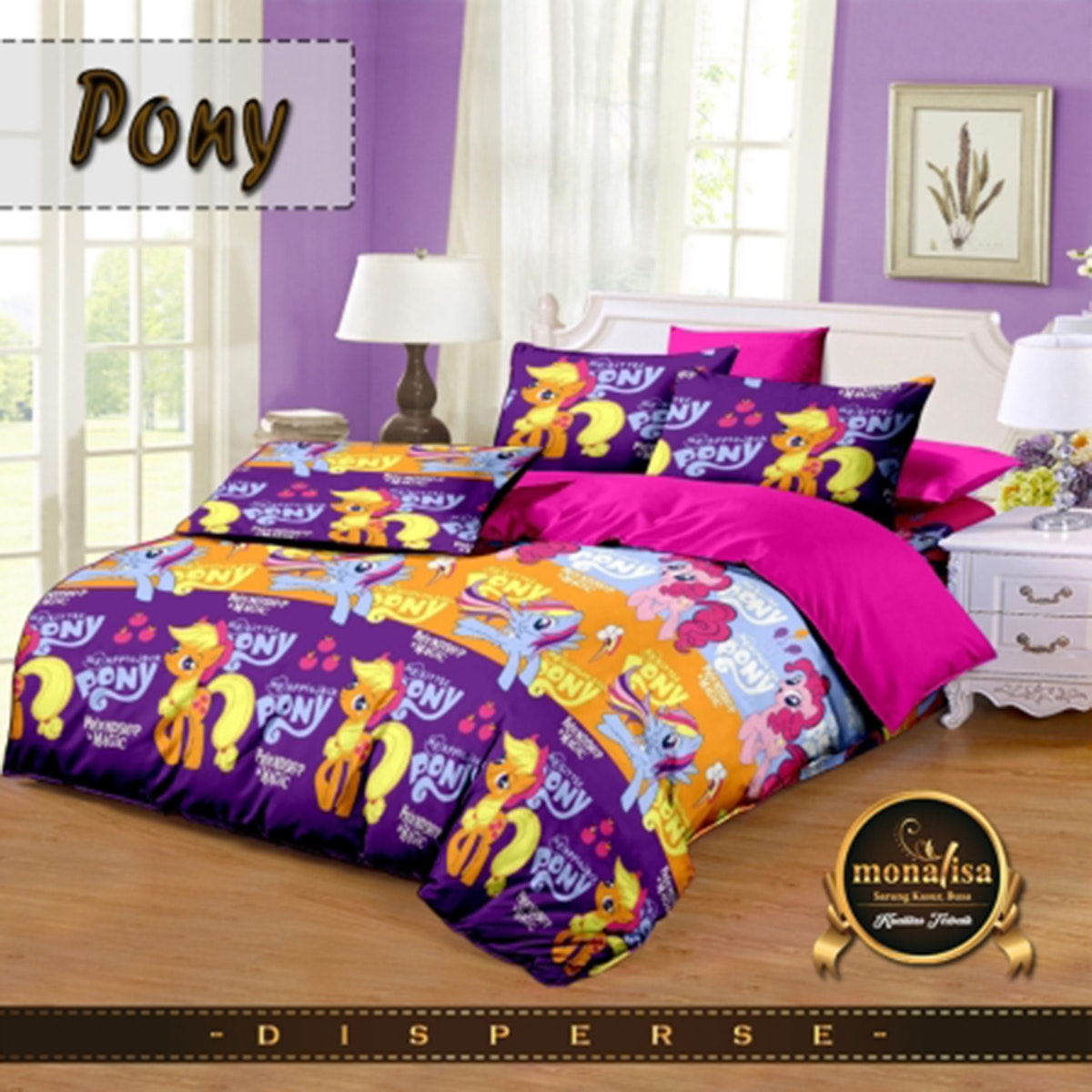 Pesona Bed Cover Disperse Pony Lama Uk 210 x 200