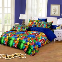 Pesona Bed Cover Disperse Mario Uk 210 x 200