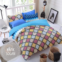 Pesona Sprei Disperse Batik Sogan Uk 180 T20
