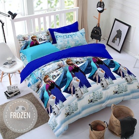 Pesona Sprei Disperse Frozen Biru Uk 120 T20