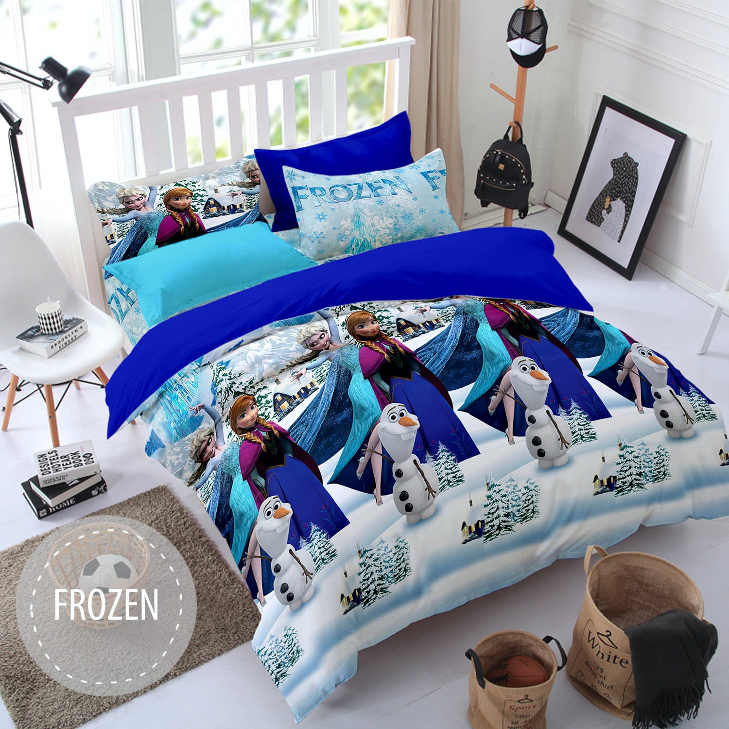 Pesona Sprei Disperse Frozen Biru Uk 160 T20