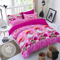Pesona Sprei Disperse Kitty Pink Uk 180 T20