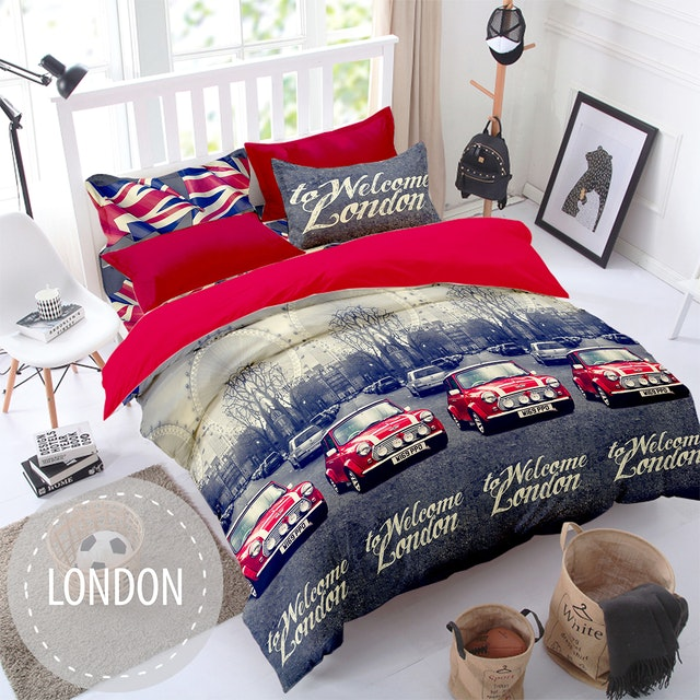 Pesona Sprei Disperse London Hitam uk 180 T 20