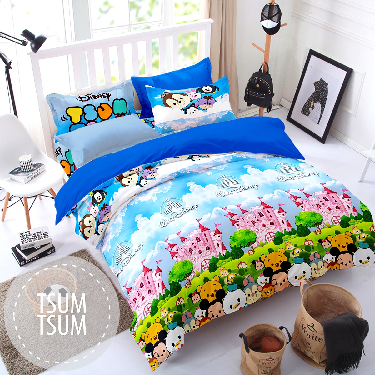 Pesona Sprei Disperse Tsum Tsum Disney uk 180 T 20