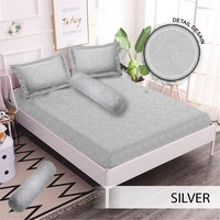 Royals Sprei Jacquard Emboss Uk 160 T 30 - Silver