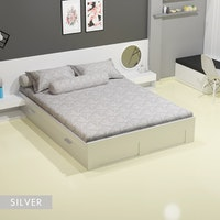 Royals Sprei Jacquard Emboss Uk 180 T 30 - Silver