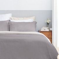 Aloevera Set Duvet Cover Dark Grey + Silver 210X210cm