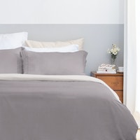 Aloevera Set Duvet Cover Dark Grey + Silver 160X210cm