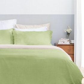 Aloevera Set Duvet Cover Light Green + Ecru 240X210cm