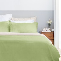 Aloevera Set Duvet Cover Light Green + Ecru 160X210cm