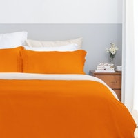 Aloevera Set Duvet Cover Orange + Ecru 260X230cm