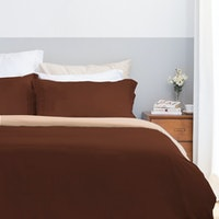 Aloevera Set Duvet Cover Hot Chocolate + Cream 160X210cm