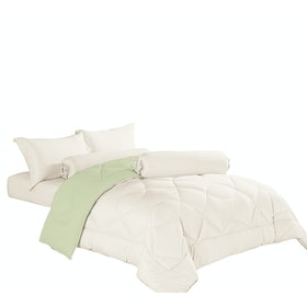 Aloevera Blanket Light Green + Ecru 260X230cm