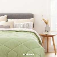 Aloevera Blanket Light Green + Ecru 160X210cm