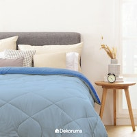 Aloevera Blanket Light Blue + Dark Blue 260X230cm