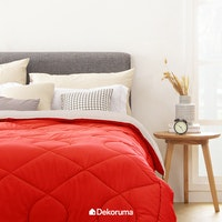Aloevera Blanket Chili Red + Silver 260X230cm