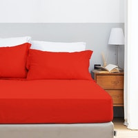 Aloevera Set Sprei Chili Red 200X200X40cm