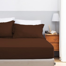 Aloevera Set Sprei Hot Chocolate 160X200X40cm