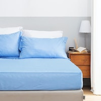 Aloevera Set Sprei Light Blue 200X200X40cm