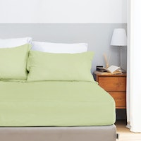 Aloevera Set Sprei Light Green 200X200X40cm