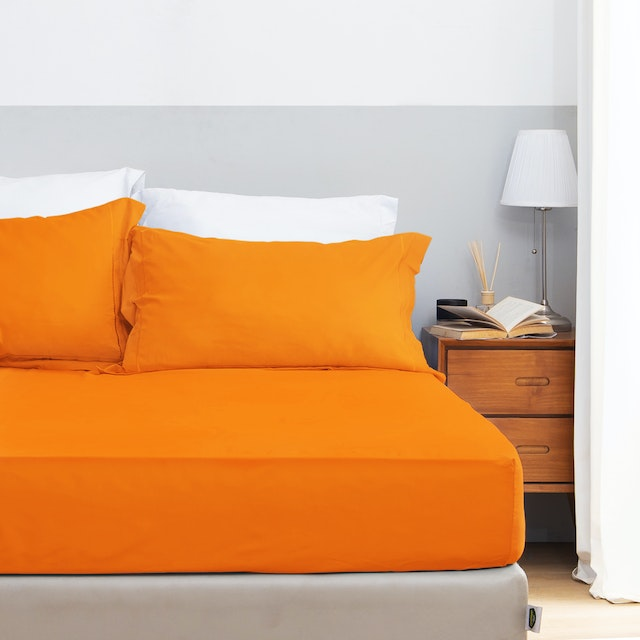Aloevera Set Sprei Orange 160X200X40cm