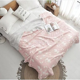 House of Windsor Floral Blanket Pink 200x235cm