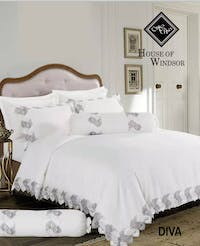HOUSE OF WINDSOR DIVA Katun Jacquard Set Sprei & Duvet Cover 200x200x40cm