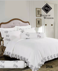 HOUSE OF WINDSOR DIVA Katun Jacquard Set Sprei & Duvet Cover 160x200x40cm
