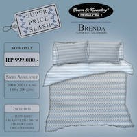 TOWN & COUNTRY Set Sprei Brenda 180x200x40cm & Blanket 260x230cm Microtex