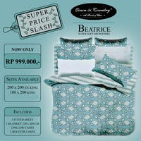TOWN & COUNTRY Set Sprei Beatrice 180x200x40cm & Blanket 260x230cm Microtex