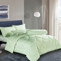House of Windsor Bed Cover Tencel Green Stripe Ukuran 260x230cm