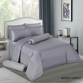 House of Windsor Set Sprei & Duvet Cover Monte Carlo 100persen Katun With Embroidery - King