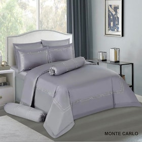 House of Windsor Set Sprei & Duvet Cover Monte Carlo 100persen Katun With Embroidery - Queen