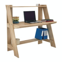 Anya Living Griffin Desk Sonoma Oak Light