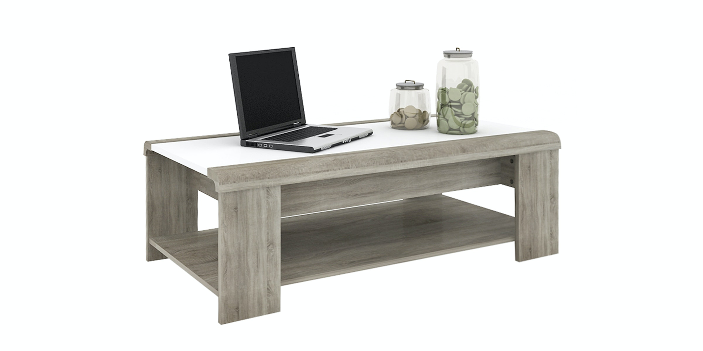 Anya Living Coffee Table Lift Table Oak White