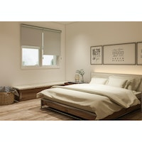Aria Home Roller Blind Blackout SALOME Light Grey (120cm x 180cm)