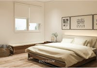 Aria Home Roller Blind Blackout Tirai Gulung  #Gorden Cream T200 x L90