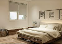Aria Home Roller Blind Blackout Tirai Gulung  #Gorden Brown Beige T200 x L90