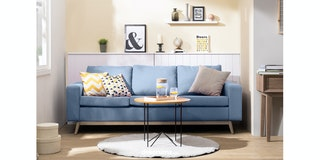 Artista Home Hugo Sofa 3 Dudukan Blueberry