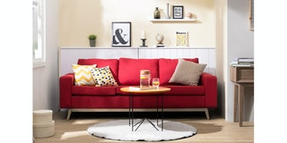 Artista Home Hugo Sofa 3 Dudukan Cherry
