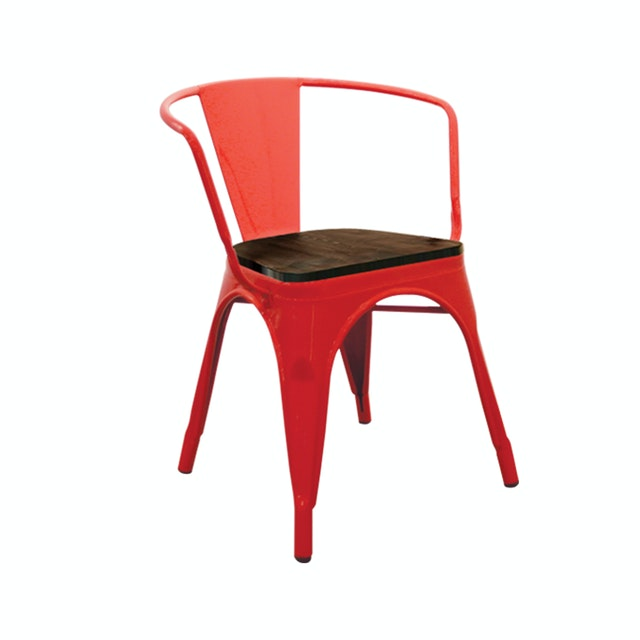 Atria NEW TOLIX WOOD LOW CHAIR H69CM METAL RED