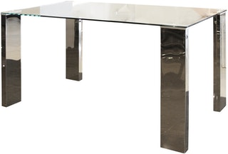 Atria SELINO RECTANGULAR DINING TABLE Y-625 140*80*75 CLEAR GLASS