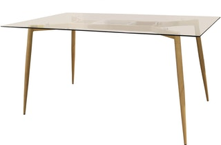 Atria STEFFANY RECTANGULAR DINING TABLE F-834 150*90*76 CLEAR GLASS / METAL